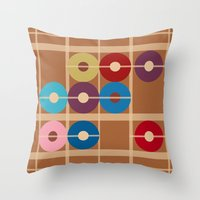 alchemy Throw Pillows featuring Cooper Alchemy by Ramon J Butler-Martinez