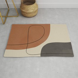 Modern Abstract Shapes #1 Rug
