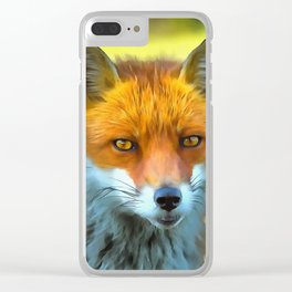 Foxy by Nature Clear iPhone Case