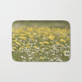 Meadow of happyness Spring flowers - Flower floral #Society6 Bath Mat