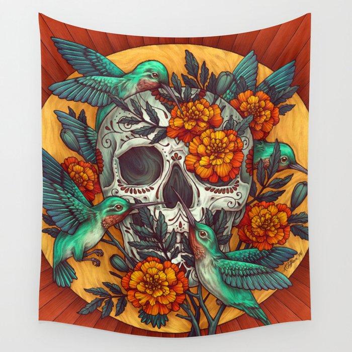 Dia de los Muertos Wall Tapestry by kateoharaillustration | Society6