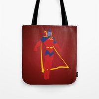 gladiator Tote Bags featuring Confidence!  Kallark, The Gladiator by Timmy D. Matias