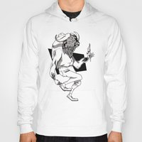 bison Hoodies featuring Bison by Hopler Art