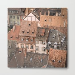 Traditional Tile Roofs Metal Print