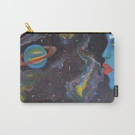 Blue Saturn Carry-All Pouch