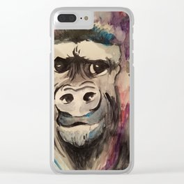 Gorilla Smirk Clear iPhone Case