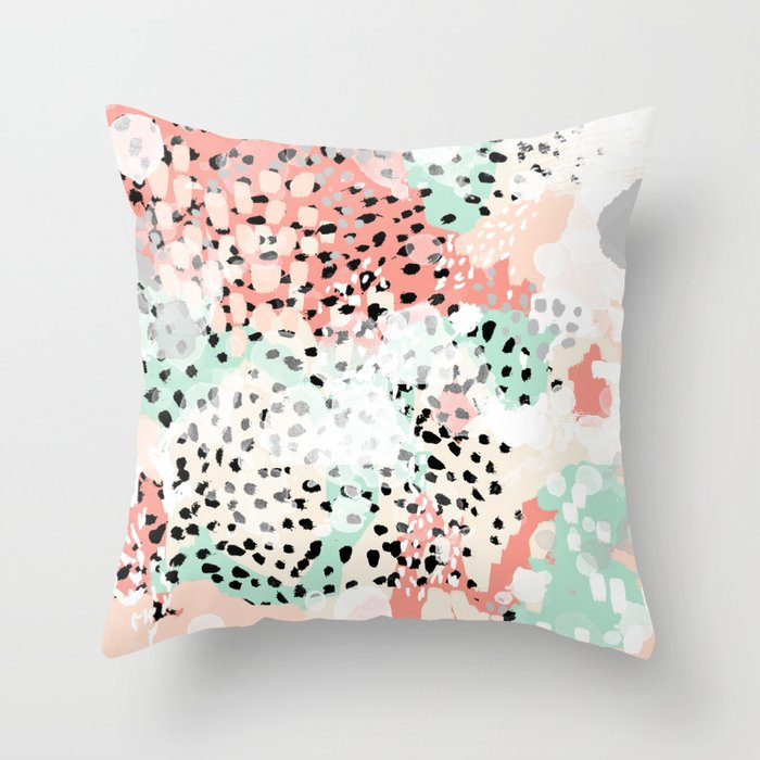 Breah Abstract Painting Pastel Colors Nursery Baby Gender Neutral Hipster Throw Pillow
