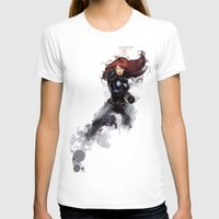 black widow T-shirts featuring Black Widow by Isaak_Rodriguez