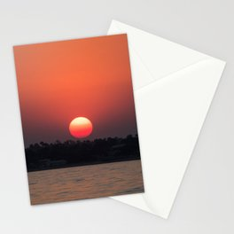 Really red sun Stationery Cards