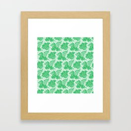 Pegasus Pattern Green Framed Art Print