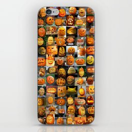 Pumpkin Faces iPhone Skin