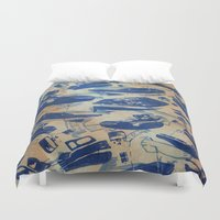 boats Duvet Covers featuring Boats by Heather Fraser