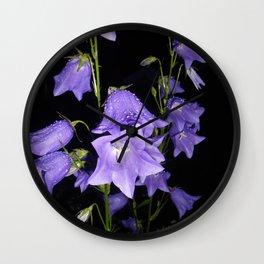 Flowers in Purple Wall Clock