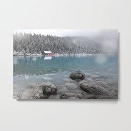 First Snow, Lake Louise Metal Print