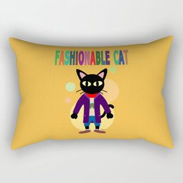 Fashionable Cat Rectangular Pillow