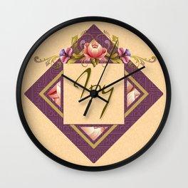 Greek Peonies in Peach Wall Clock