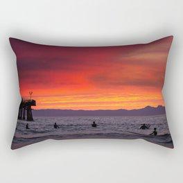 Surfers watching Sunset Rectangular Pillow