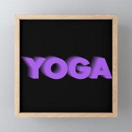 Yoga Framed Mini Art Print
