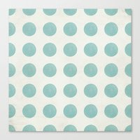 polka dots Canvas Prints featuring Polka Dots by Juste Pixx Designs