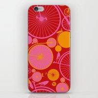 bikes iPhone & iPod Skins featuring Bikes by Helene Michau