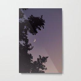 Smile Moon Metal Print
