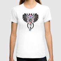 asian T-shirts featuring Asian Elephant by Paula McGloin