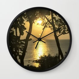 Traveling in Thailand. Beautiful Sunset at Koh Phangan Island. Wall Clock