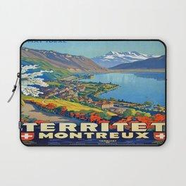 Vintage poster - Territet Montreaux Laptop Sleeve