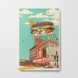 CHICAGO RED HOT Metal Print