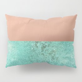 NEW EMOTIONS - ROSE & TEAL Pillow Sham