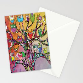 Tree of Owls Stationery Cards