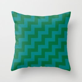 Teal Green and Cadmium Green Steps RTL Throw Pillow