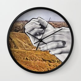 Reaching Out Wall Clock