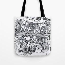 Art is Love Tote Bag
