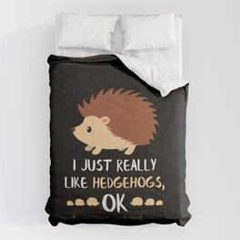 Hedgehog Gifts Hedgehogs Owner Lover Gift Hedgehog Gift Comforters