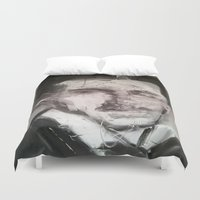 tesla Duvet Covers featuring Tesla by Larry Caveney