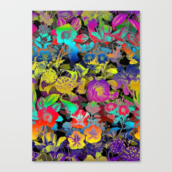 Lsd Floral Pattern Canvas Print
