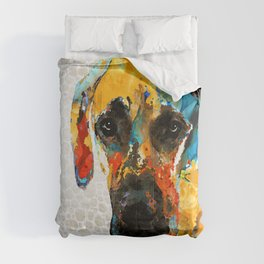 Great Dane Dog Art Portrait - Those Eyes - Sharon Cummings Comforters