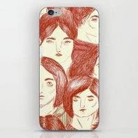gilmore girls iPhone & iPod Skins featuring Girls by Katty Huertas