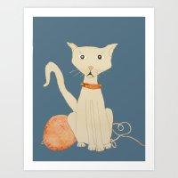 yo tambien hice un gato  ( I  made a cat , too) Art Print