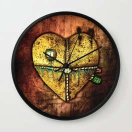 A Heart Less Broken Gothic Art Wall Clock