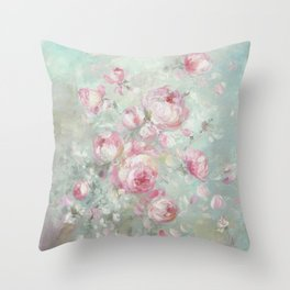 Whispering Petals Throw Pillow