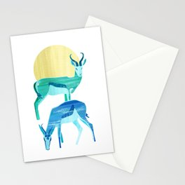 Antilopes in the sun Stationery Cards