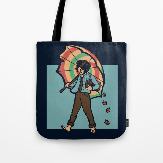 Strawberry Girl Tote Bag