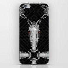 Horse Pattern - Black version iPhone & iPod Skin
