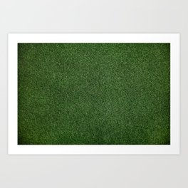Bright Lush Green Grass Art Print