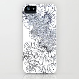 Modern Geometric Feather Artwork iPhone Case
