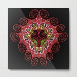 Holiday Colors Swirls Metal Print