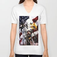 patriotic V-neck T-shirts featuring PATRIOTIC TIMES by PERRY DAEZIOUH