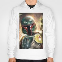 boba Hoodies featuring Boba Fett by Mishel Robinadeh